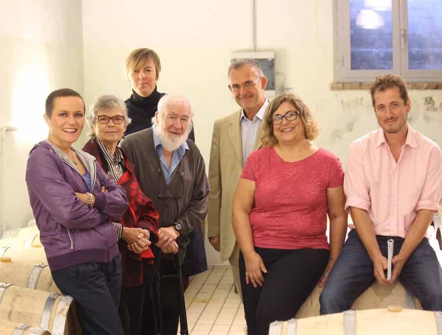 da sx Stefania Belcecchi, Petronella e John Salvi, Delphine Veissiere, Mauro Monicchi, io e Minty Waldin